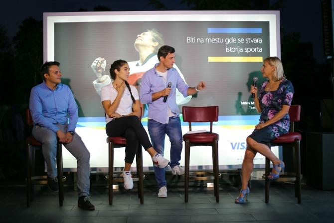 Vladimir Đorđević Milica Mandić i Vanja Kranjac  Visa i Milica Mandić svečano proslavili završetak Rio 2016 Olimpijske kampanje