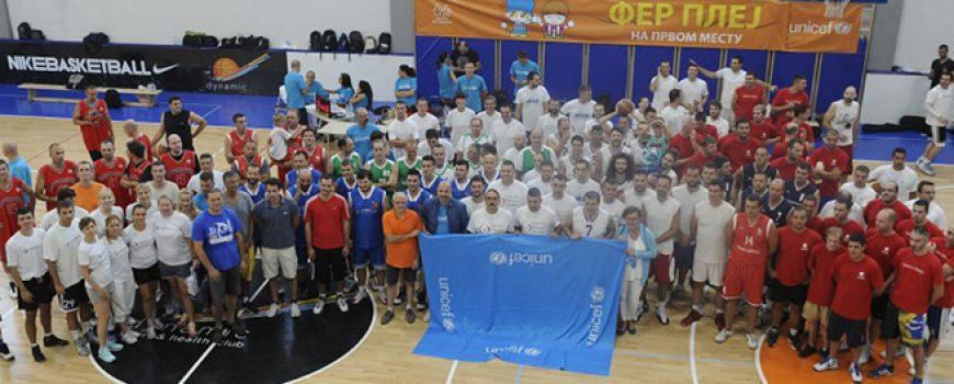 Tradicionalni Unicef-ov Fer plej basket turnir za podršku roditeljskoj telefonskoj liniji