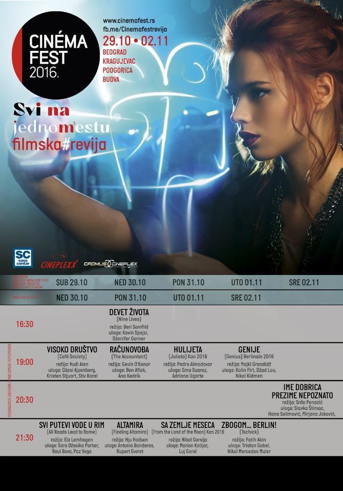 CINEMA FEST V PLAKATx2 Ekskluzivno: Program CINEMAFEST a