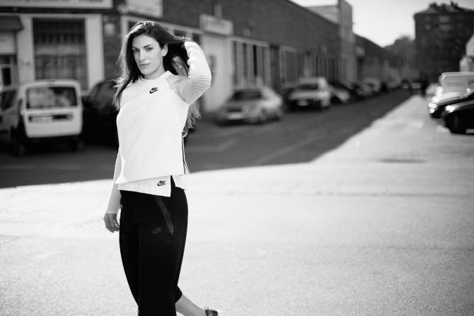 Ivana Spanovic lice Nike kampanje Ivana Španović lice globalne Nike Tech Fleece kampanje