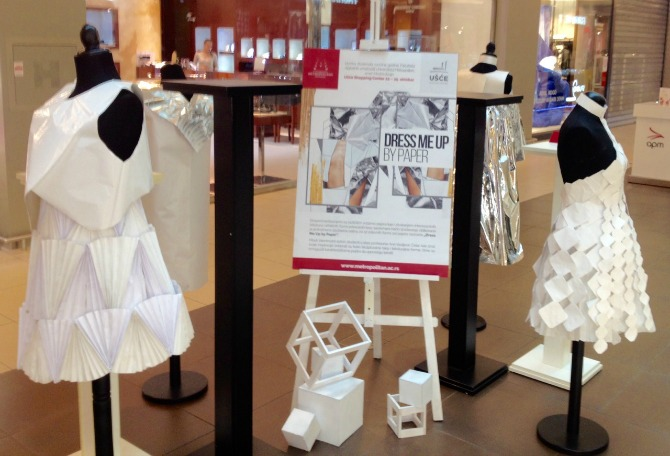 dress me up by paper1 Modna kolekcija inspirisana papirom