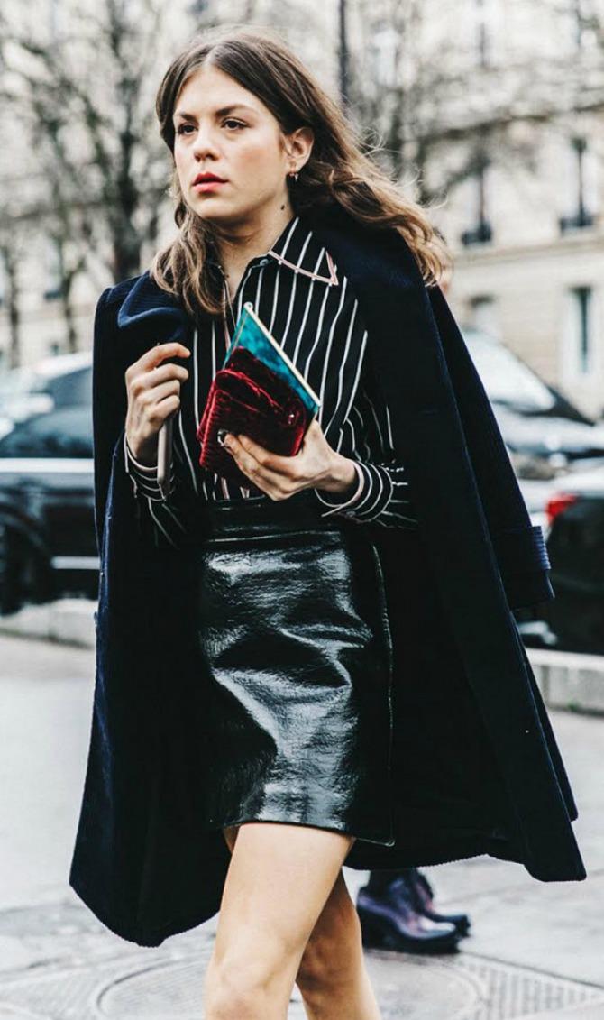 suknja 1 Street Style zvezde obožavaju da nose ovu mini suknju! (GALERIJA)