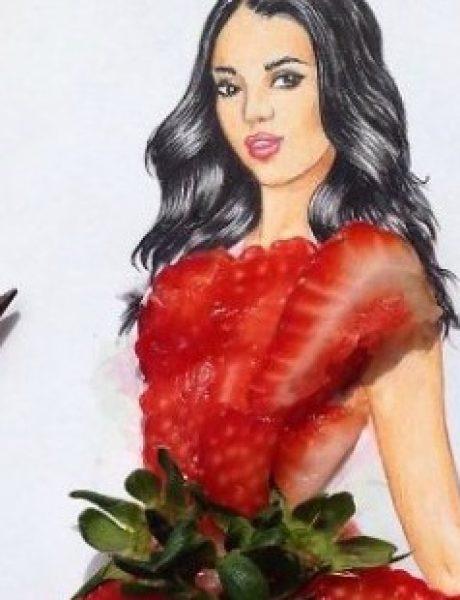 Jermenijski modni ilustrator kreira neverovatne haljine od hrane