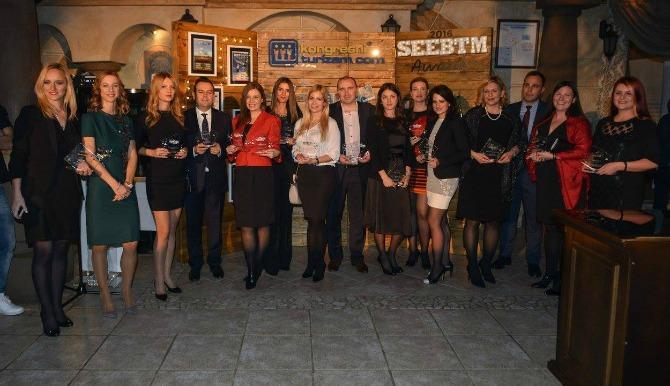 """Dobitnici """"SEEBTM AWARDS 2016"""" Tri hotela iz MK grupacije dobitnici priznanja za najbolje u kongresnoj industriji"""