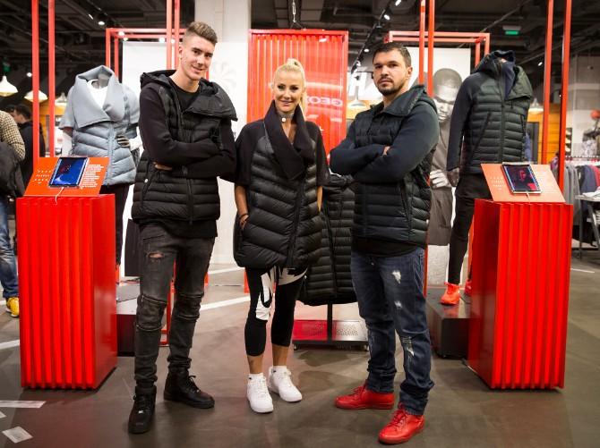 Dusan Vlahovic Milica Dabovic Valeri Bozinov Svečano predstavljena ekskluzivna Nike Sportswear Aeroloft kolekcija