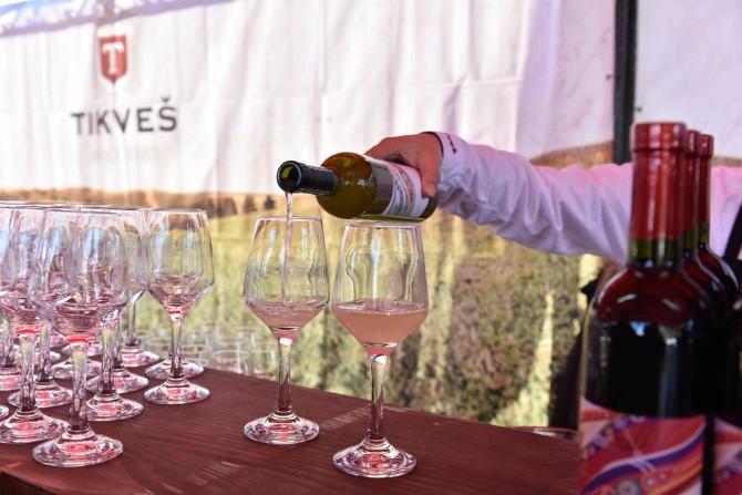 Početak degustacije mladog vina a Sedmi Festival mladog vina Tikveš vinarije u sunčanim Kavadarcima