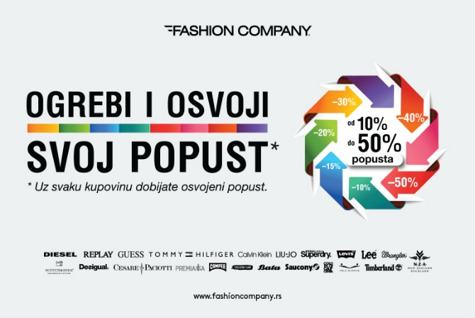 WANNABEMAG SOCIALMEDIA Ogrebi & osvoji popust u prodavnicama Fashion Company!