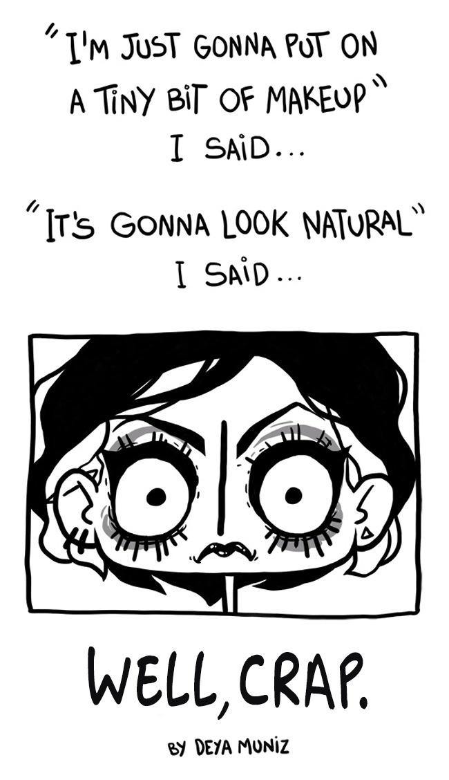makeup Svakodnevne ženske muke kroz šašave ilustracije