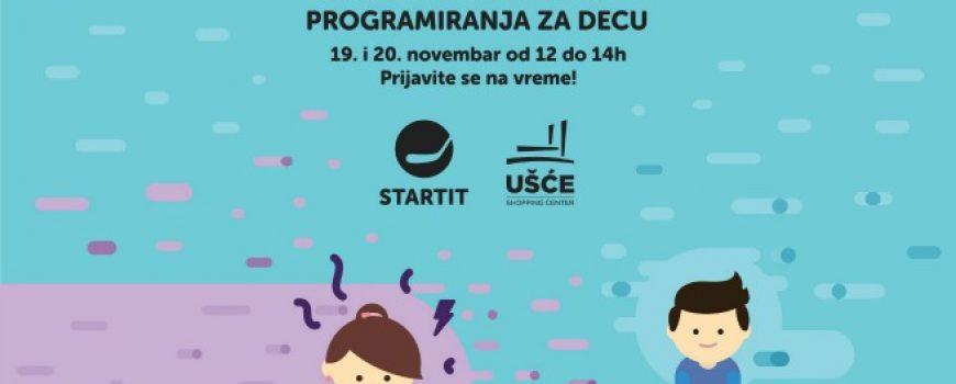 Besplatni časovi programiranja za mališane u UŠĆE Shopping Center-u