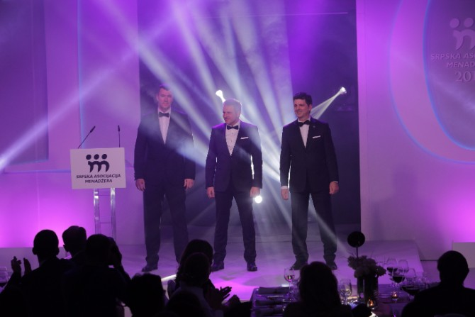 Predsednici SAM a Bojan Radun Slobodan Djinovic i Milan Petrovic SAM godišnje nagrade dodeljene peti put za redom