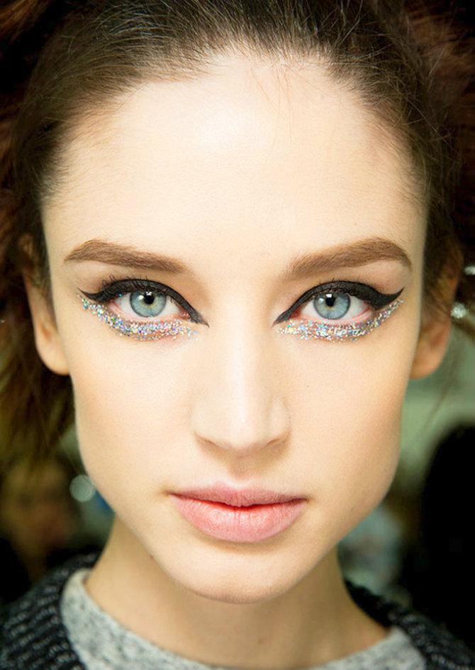 ispod oka Tri LAKA makeup trika sa ŠLJOKICAMA za novogodišnju noć