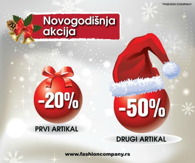 novogodisnja akcija fashion company Novogodišnja akcija Prvi artikal  20%, drugi artikal  50% u Fashion Company u