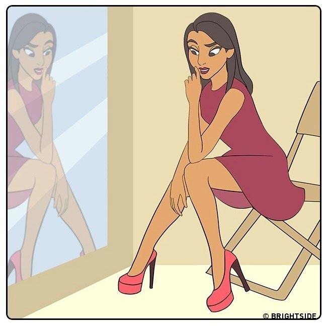 potpetice 2 12 ilustracija o tome koliko je teško nositi visoke potpetice