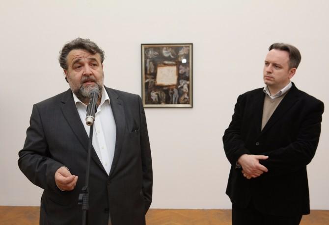 Sa leva Leon Pogelsek i Filip Brusic Renaud Najpoznatije Pikasove grafike u Kući legata