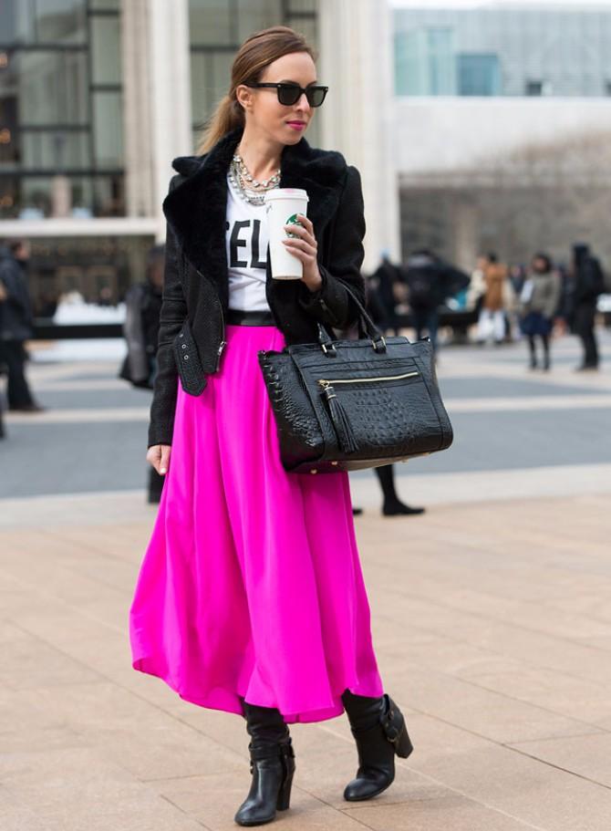 Street Style2 6 Street Style kombinacija zbog kojih će suknja biti tvoj Must Have ove zime