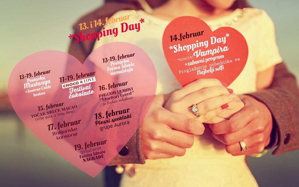 Couple in love Choco & love nedelja ljubavi u shopping centru Stadion