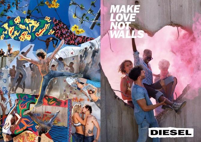 Diesel Campaign SS17 Wall DPS Rušite zidove i širite ljubav odeveni u novu Diesel kolekciju