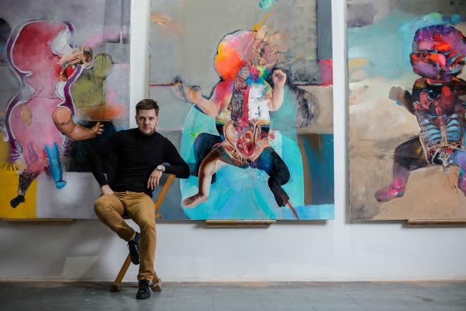 Marko Kusmuk1 Mlad i perspektivan umetnik otvara izložbu u Galeriji ULUS
