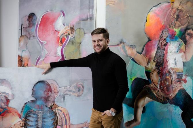 Marko Kusmuk2 Mlad i perspektivan umetnik otvara izložbu u Galeriji ULUS