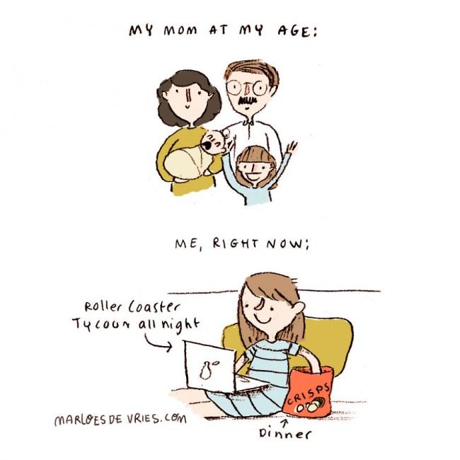1 2 Ono kad pokušavaš da budeš odrasla i samostalna... (ILUSTRACIJE)