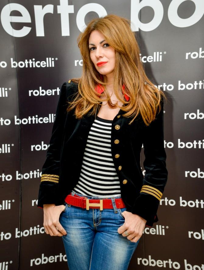Lena Bogdanovic Beograd posetio jedan od najboljih modnih znalaca   Roberto Botičeli