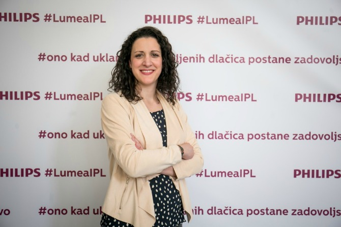 Sanja Augustinović marketing menadžer Philips Personal Care Adriatic ... Aparat za uklanjanje dlačica koji je izabralo više od million žena