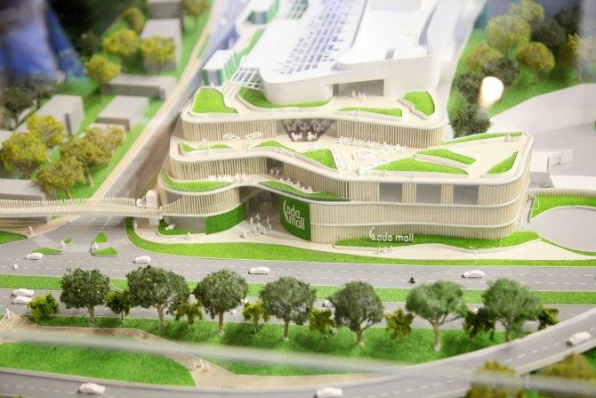 ada mall maketa Ada Mall i poslovni kompleks Green Heart predstavljeni na izložbi Dani arhitekture – Beograd budućnosti
