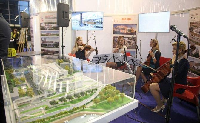 habanera maketa Ada Mall i poslovni kompleks Green Heart predstavljeni na izložbi Dani arhitekture – Beograd budućnosti