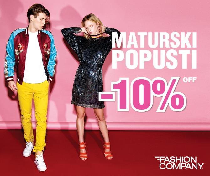 maturski popusti Maturski popusti u Fashion Company radnjama