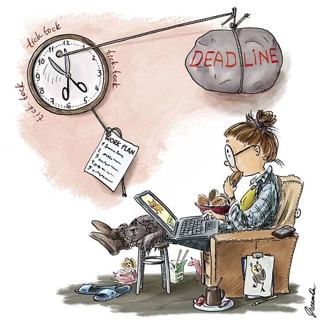 ilustracije 2 Svakodnevni izazovi savremene devojke (ILUSTRACIJE)