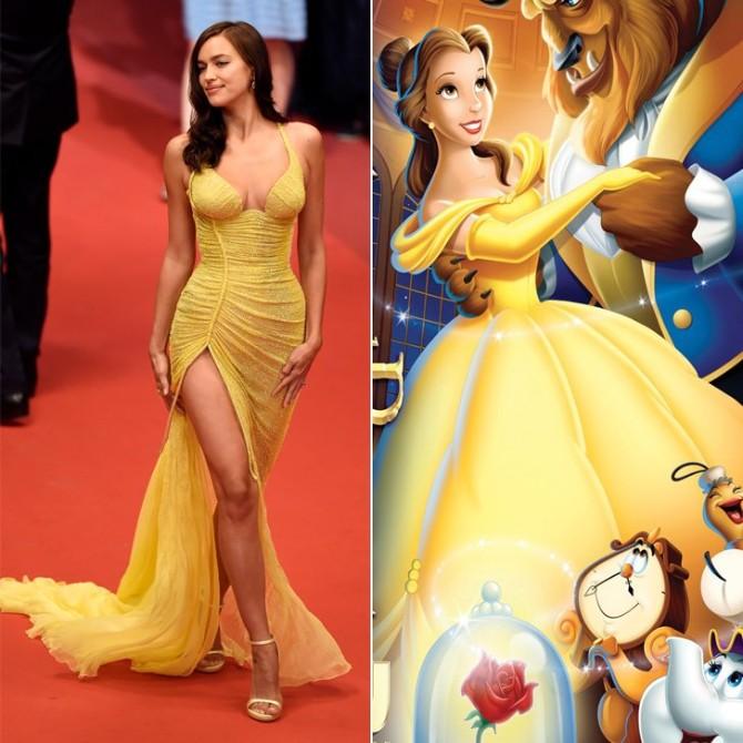 irina sajk Najlepše haljine inspirisane Diznijevim princezama koje smo videle u Kanu