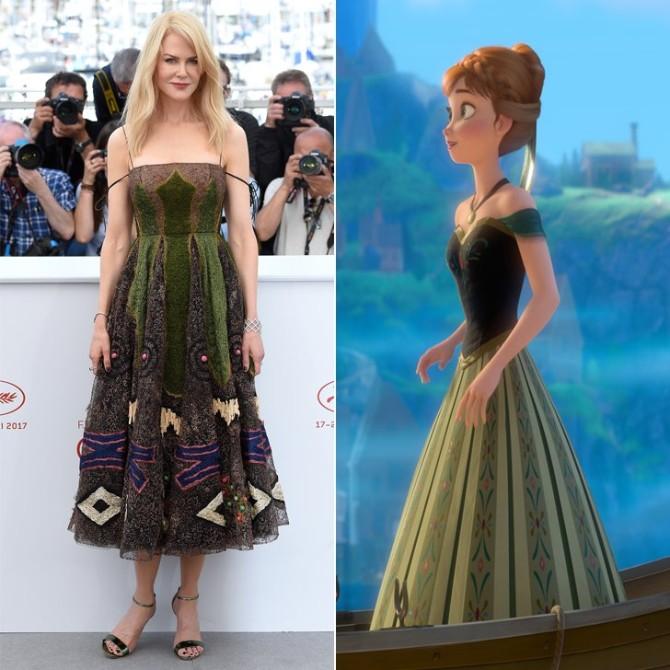 nikol kidman 1 Najlepše haljine inspirisane Diznijevim princezama koje smo videle u Kanu