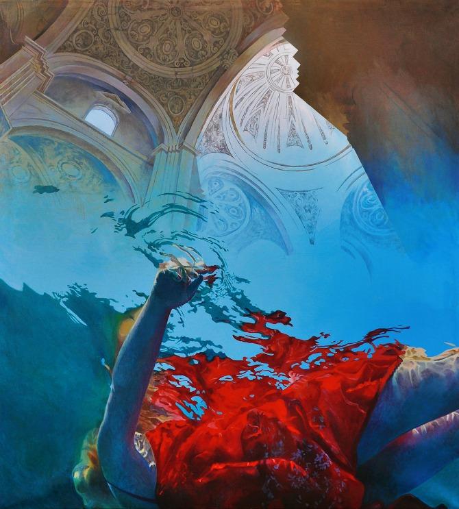 I. Živić Zen ulje na platnu 150x140cm Iz Luke Beograd na prestižnu izložbu savremene umetnosti, NordArt