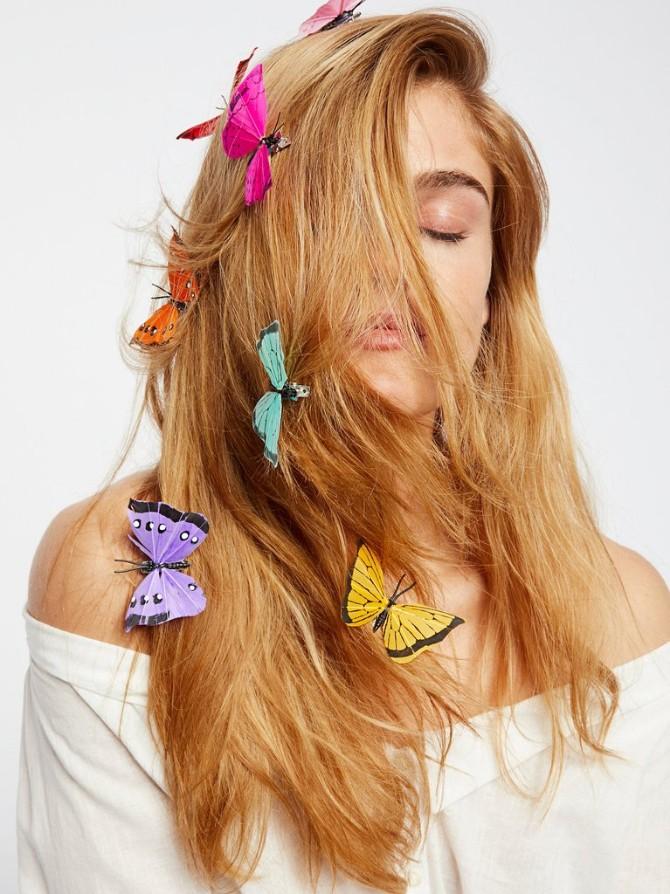 leptir9 Šnale za kosu u obliku leptira se vraćaju u modu, ali izgledaju bolje nego tokom devedesetih!