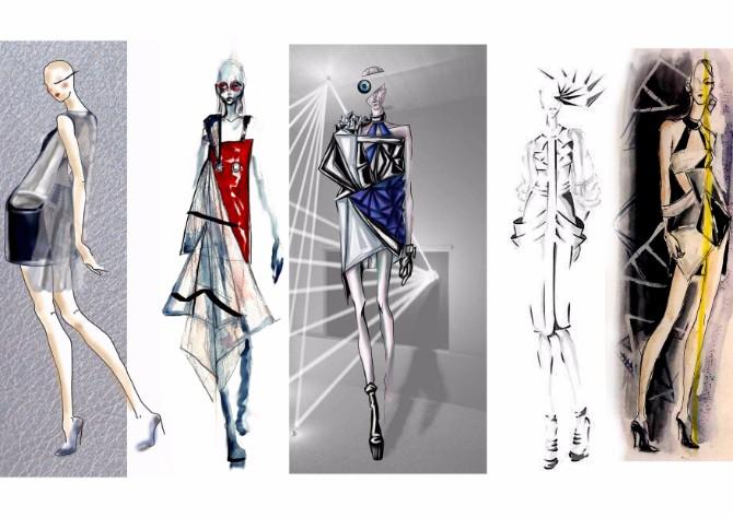 skice 1 godine BAFE Studenti Modnog dizajna sa Univerziteta Metropolitan na desetom BAFE u