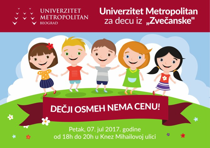 UniverzitetMetropolitanzadecuizZvečanskeDečjiosmehnemacenu Univerzitet Metropolitan za decu iz Zvečanske: Dečji osmeh nema cenu!