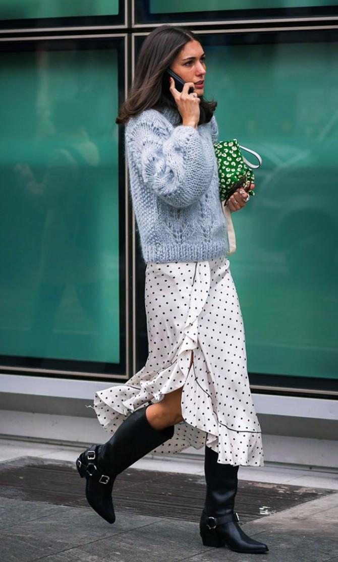haljina sa tufnama 2 Mini + Maxi: Kako da nosiš tufne do kraja leta