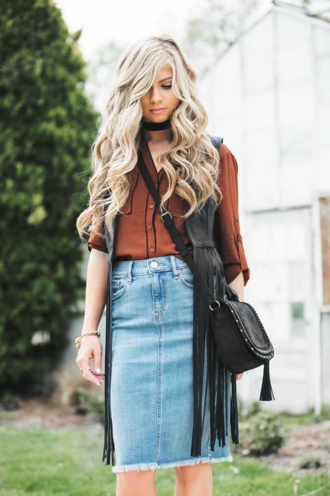 Slika 3 10 načina da nosiš teksas suknju ove jeseni
