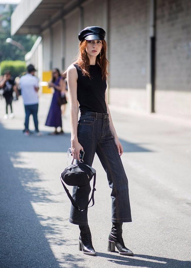 beretka street style 7 Beretke su ponovo u modi i pronašle smo autfite uz koje možeš da ih nosiš