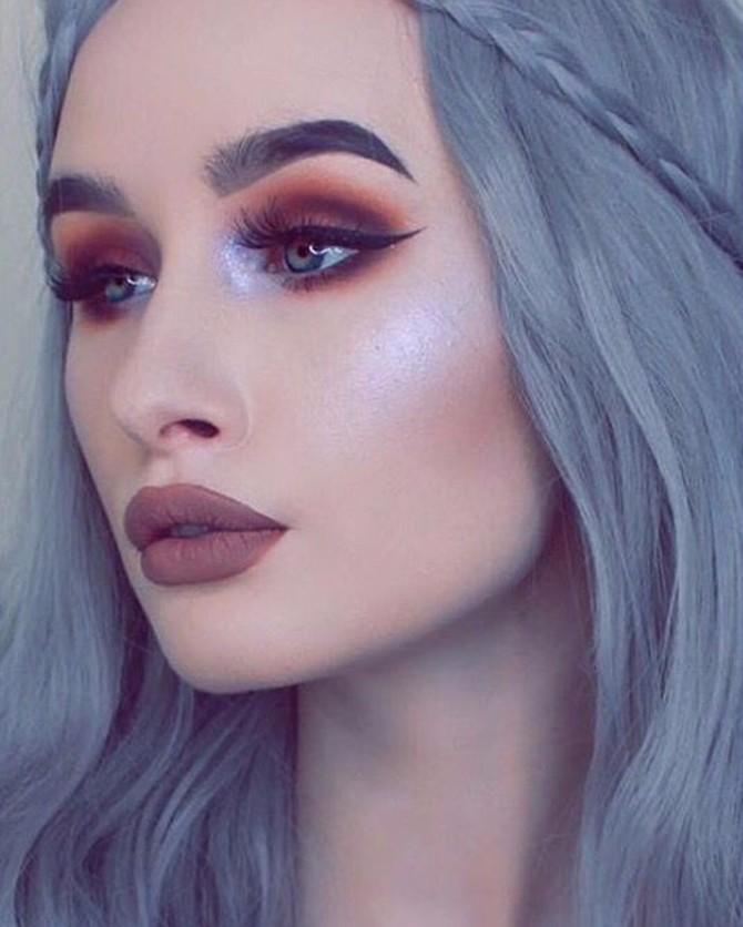 rijana makeup 2 Hajlajter boje lavande je najveći jesenji trend za strobing makeup tehniku!
