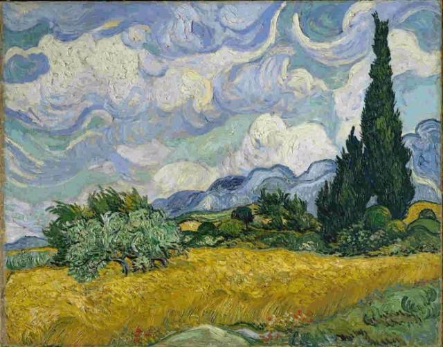 Žitno polje sa čempresima 10 najskupljih dela Van Goga