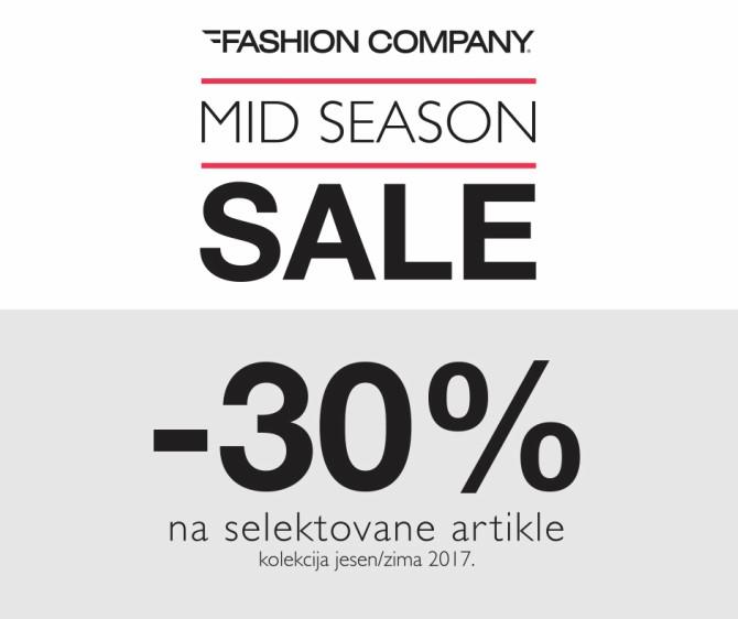 Mid Season Sale u Fashion Company prodavnicama Mid Season Sale u Fashion Company prodavnicama!