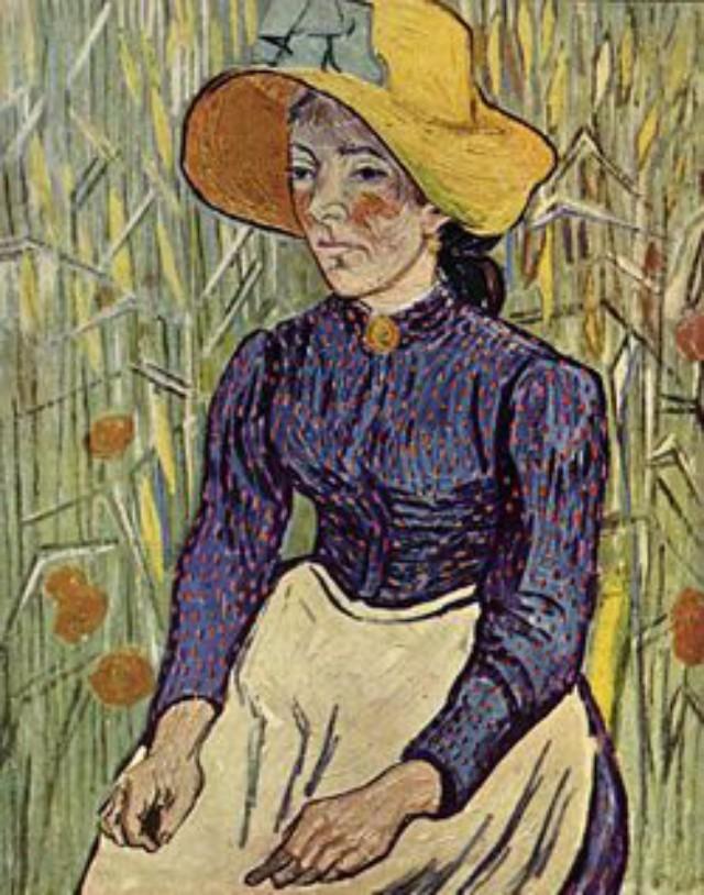 Zemljoradnica sa žitaricama u pozadini 10 najskupljih dela Van Goga
