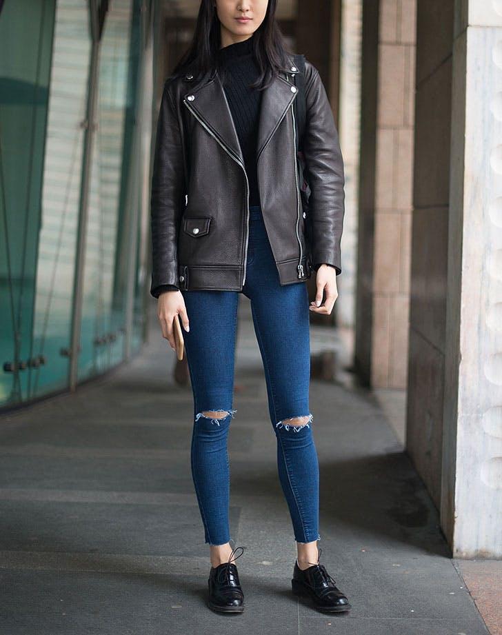 kožna jakna oksfordice 8 načina da nosiš kožnu jaknu kao Njujorčanka