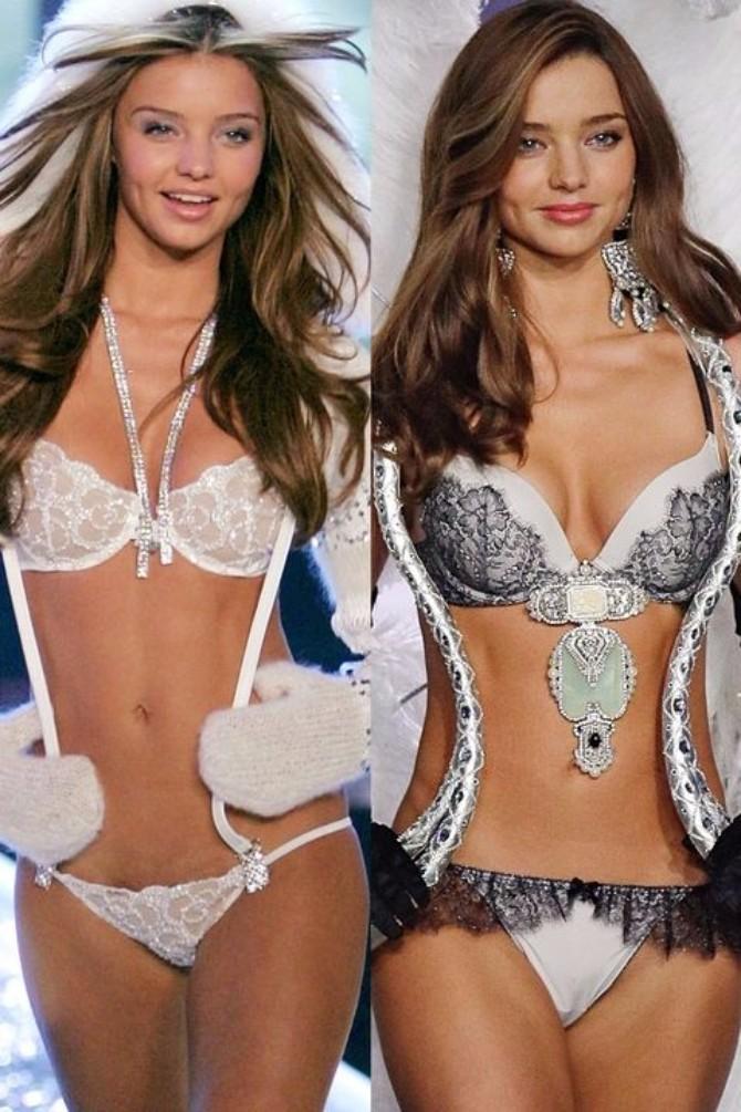 miranda ker Victorias Secret modeli: Nekad i sad