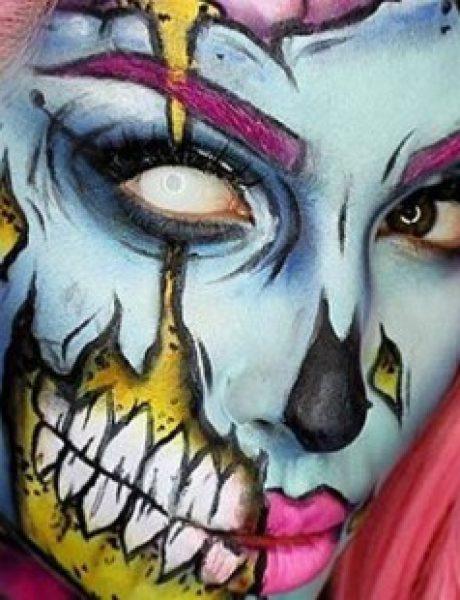 Uz pomoć šminke do savršene maske za Noć veštica (VIDEO)