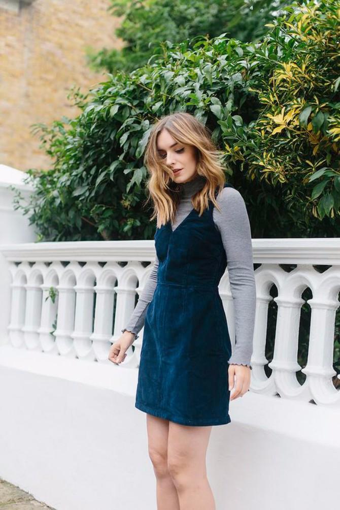 rolka i teksas haljina Stylish načini da nosiš rolku ove jeseni