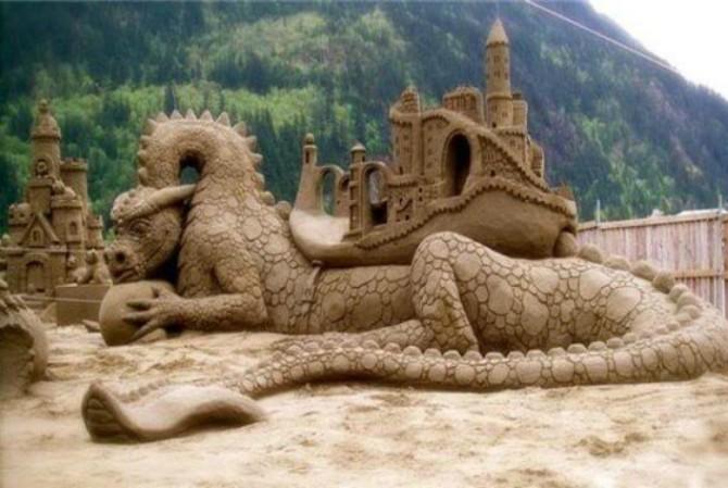 skulptura od peska Umetnost ne zna za granice: neverovatne skulpture od peska