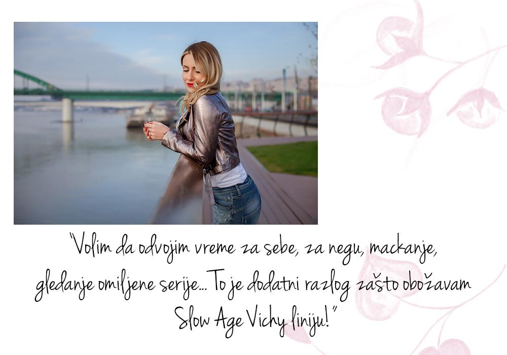 stasa 4 Anastasija Đurić ti otkriva kako da uzmeš vreme za sebe i postaneš nova ambasadorka Vichy Slow Age linije
