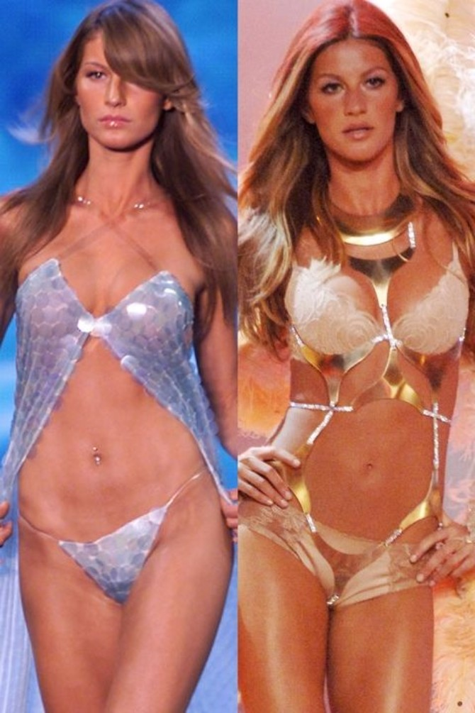 zizel bundsen Victorias Secret modeli: Nekad i sad